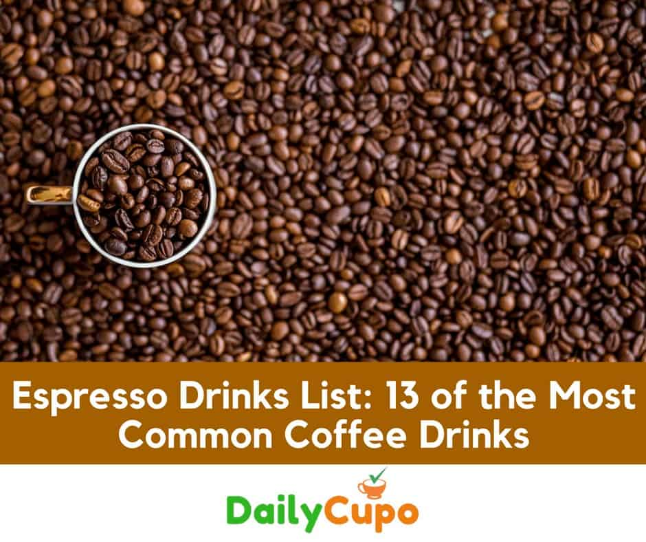 Espresso Drinks List