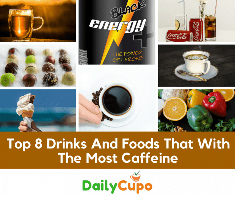 caffeine in drink and food